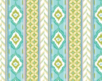 Amira, Camelot Fabrics, Designed by Elizabeth Silver, Column in Light Blue, Fabric by the Yard, SKU: 27170102 #2