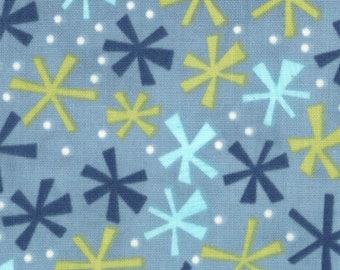 Jenn Ski Fabric, Deep Aqua, Ten Little Things by Jenn Ski for Moda Fabrics, 30505-15