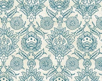 Floral Damask, Elizabeth Rose by Gray Sky Studio for In The Beginning Fabrics, 6GS-1 Blue