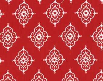 Lily Ashbury Fabric, Trade Winds by Lily Ashbury for Moda Fabrics, 11457-16 Moroccan Red
