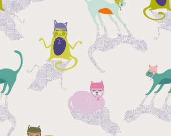 Art Gallery Fabrics, Kitten Around, Oh, Meow!--Quilters Cotton OEKO-TEX Standard 100 Certified--OHM-33442