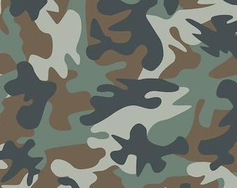Dear Stella Fabrics, Incognito Jungle, Cotton Fabric by the Yard and Fat Quarters, Quilting Fabric, STELLA-1724-JUNGLE