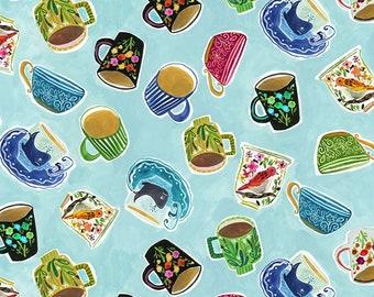 Dear Stella Fabrics, Deja Brew, No Place Like Om Fabrics by August Wren, Quilting Cotton, STELLA-DJL1699-MULTI