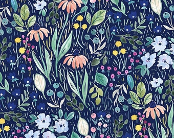 Dear Stella Fabrics, Blooming Lovely, Creative Cats Cotton Fabric by the Yard and Fat Quarters, Quilting Fabric, STELLA-DCJ1691-MULTI