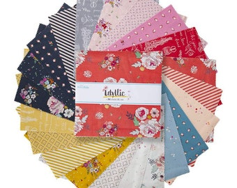 "Idyllic 10 Inch Stacker - 42 Pcs by MinkiKim for Riley Blake Designs - 10""x10"" Fabric Squares - 10-9880-42"