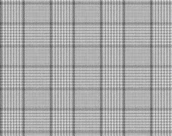 Riley Blake Fabrics, Tweed Gray, All About Plaids, Premium Quilting Cotton Fabric by the Yard, C639-GRAY