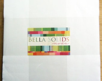 WHITE Layer Cake Bella Solids Moda Basics 42 pieces 10x10 inch squares--neutral white--9900LC 98