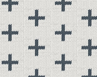 Art Gallery Fabrics, Chain Stitch Crosses, Hooked by Mister Domestic--Quilters Cotton OEKO-TEX Standard 100 Certified--HKD-22657
