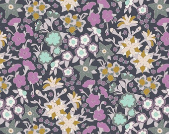Art Gallery Fabrics, If They Were Real Flowers Print, Hooked by Mister Domestic--Quilters Cotton OEKO-TEX Standard 100 Certified--HKD-22654