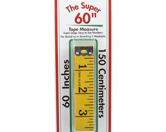 """The Super 60"""" Tape Measure dor Dressmakers by Sullivans--60 inches, 150 Centimeters--Large Easy to See Numbers, Washable--12249"""