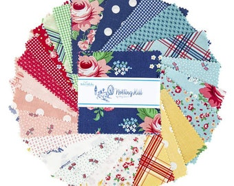 """Notting Hill 5"""" Stacker, 42 piece pack of Quilting Cotton Scraps designed by Amy Smart for Riley Blake Designs--5-10200-42"""