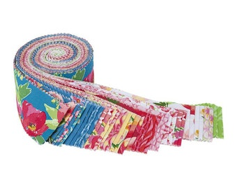 """Glohaven 2 1/2"""" Rolie Polie - 40 Pcs by Lila Tueller for Riley Blake Designs - Fabric Strips - RP-9830-40"""