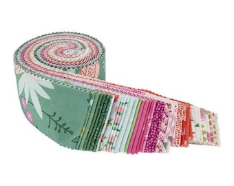"""New Dawn 2 1/2"""" Rolie Polie - 40 Pcs by Citrus & Mint Designs for Riley Blake Designs - Fabric Strips - RP-9850-40"""