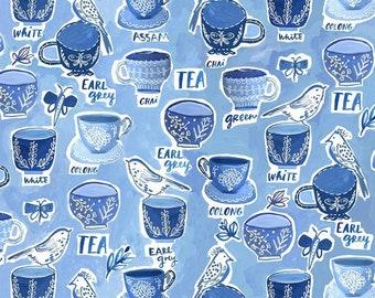 Dear Stella Fabrics, TEA-RRIFIC, No Place Like Om Fabrics by August Wren, Quilting Cotton, STELLA-DJL1706-ocean