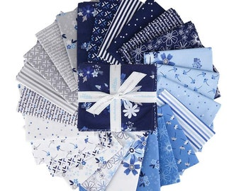 Blue Stitch Fat Quarter Bundle -  24 Prints designed by Christopher Thompson, Complete Collection from Riley Blake Designs--FQ-10060-24