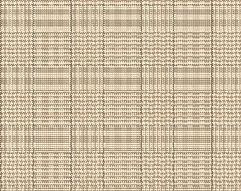 Riley Blake Fabrics, Tweed Tan, All About Plaids, Premium Quilting Cotton Fabric by the Yard, C639-TAN
