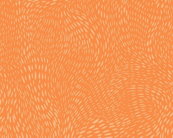 Dear Stella Fabrics, Dash Flow in Autumn Orange, Cotton Fabric by the Yard and Fat Quarters, Quilting Fabric, ST-SRR1300AUT