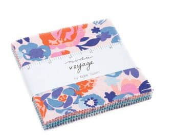 Moda Charm Pack, Kate Spain Fabric, Voyage by Kate Spain for Moda Fabrics, Fabric Scraps