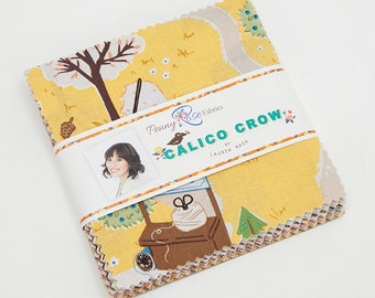 Calico Crow 5 inch Stackers by Lauren Nash for Penny Rose Fabrics, Riley Black Designs, 42 pieces 5x5 inch fabric squares--5-7300-42