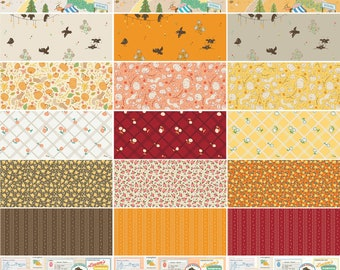 FREE SHIPPING: Calico Crow Fat Quarter Bundle, Complete Collection of 21 Fat Quarters by Patty Young for Riley Blake Designs