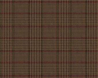 Riley Blake Fabrics, Tweed Brown, All About Plaids, Premium Quilting Cotton Fabric by the Yard, C639-BROWN