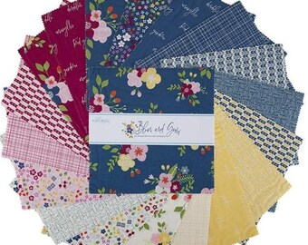 """Bloom and Grow 10 Inch Stacker - 42 Pcs designed by Simple Simon and Co for Riley Blake Designs - 10""""x10"""" Fabric Squares - 10-10110-42"""