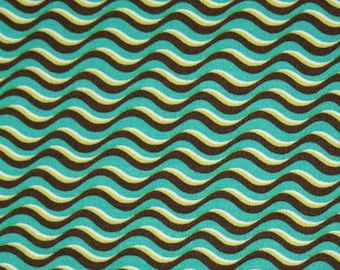 Fiesta by Donna Wilder for Fabric Traditions, 1034-9108 Wave Brown
