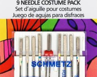 9 Machine Needle Costume Pack by Schmetz--Assorted Machine Needles for Apparel and Cosplay Sewing--1850