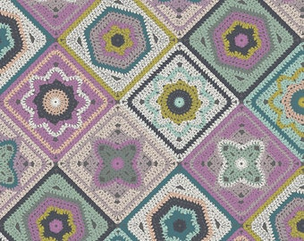 Art Gallery Fabrics, Crochet Sampler, Hooked by Mister Domestic--Quilters Cotton OEKO-TEX Standard 100 Certified--HKD-22650