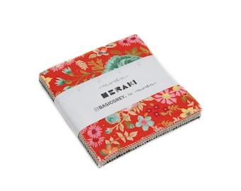 Charm Pack, Meraki by BasicGrey for Moda Fabrics, 42 pieces 5x5 inch fabric squares--30490PP