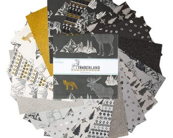 """Timberland 10 Inch Stacker - 42 Pcs from Riley Blake Designs - 10""""x10"""" Fabric Squares - 10-10330-42"""