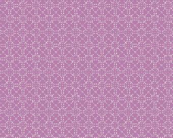 Art Gallery Fabrics, Spaces in Between Silk Purple, Hooked by Mister Domestic--Quilters Cotton OEKO-TEX Standard 100 Certified--HKD-22651