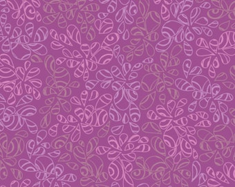 Art Gallery Fabrics, Orchid Bloom Purple, Nature Elements--Quilters Cotton Fabric for Masks, OEKO-TEX Standard 100 Certified--NE-110