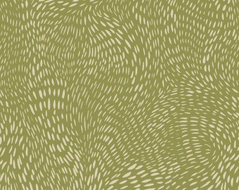 Dear Stella Fabrics, Dash Flow in Sage, Cotton Fabric by the Yard and Fat Quarters, Quilting Fabric, ST-SRR1300SAG