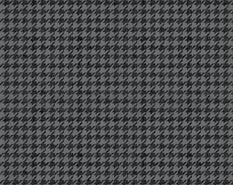 Riley Blake Fabrics, Houndstooth Black, All About Plaids, Premium Quilting Cotton Fabric by the Yard, C637-BLACK