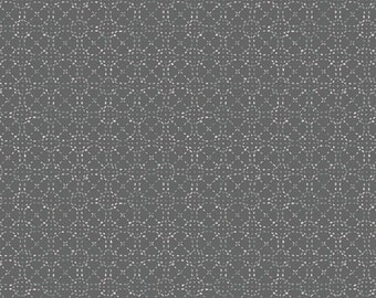Art Gallery Fabrics, Spaces in Between Wool Grey, Hooked by Mister Domestic--Quilters Cotton OEKO-TEX Standard 100 Certified--HKD-22660