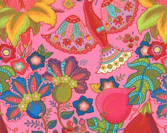 Lily Ashbury Fabric, Trade Winds by Lily Ashbury for Moda Fabrics, 11450-17 Tea Rose