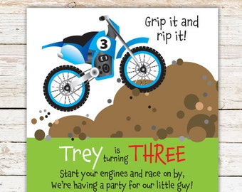Dirt bike invitation etsy more colors dirt bike birthday party invitations filmwisefo