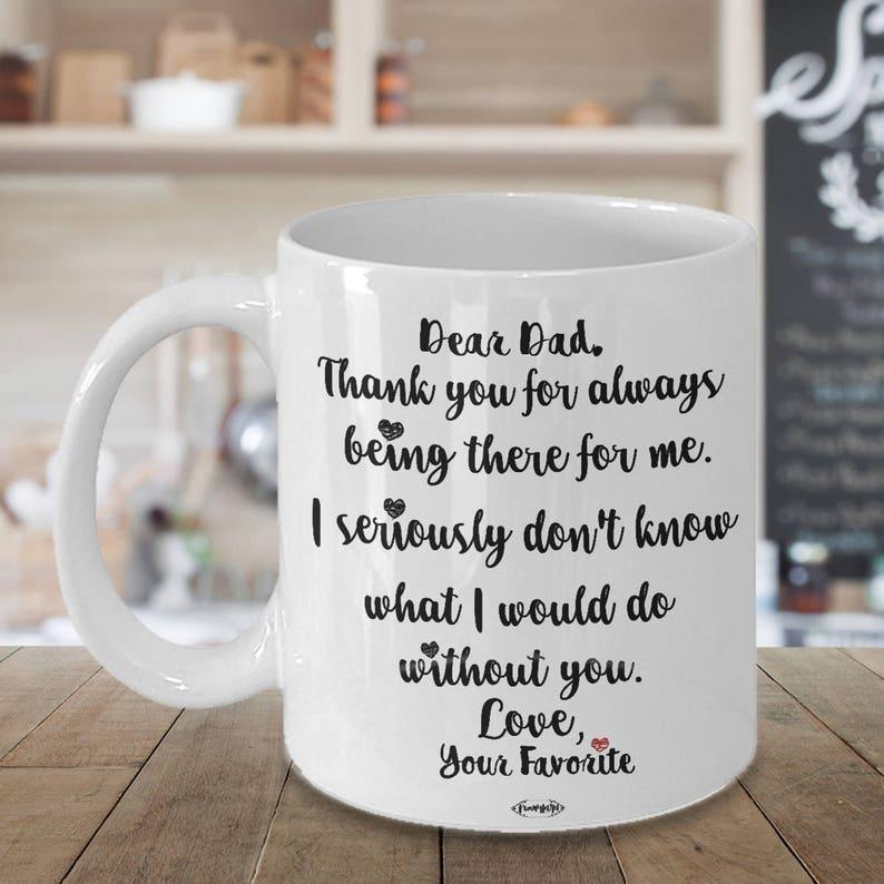 Dear Dad Mug Christmas Birthday Gift For Men Husband