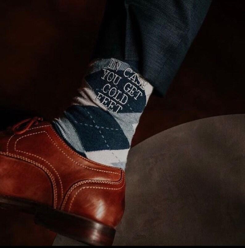 46ca5828c07e Groom Socks Navy Light Blue Argyle Mens Monogram Socks   Etsy