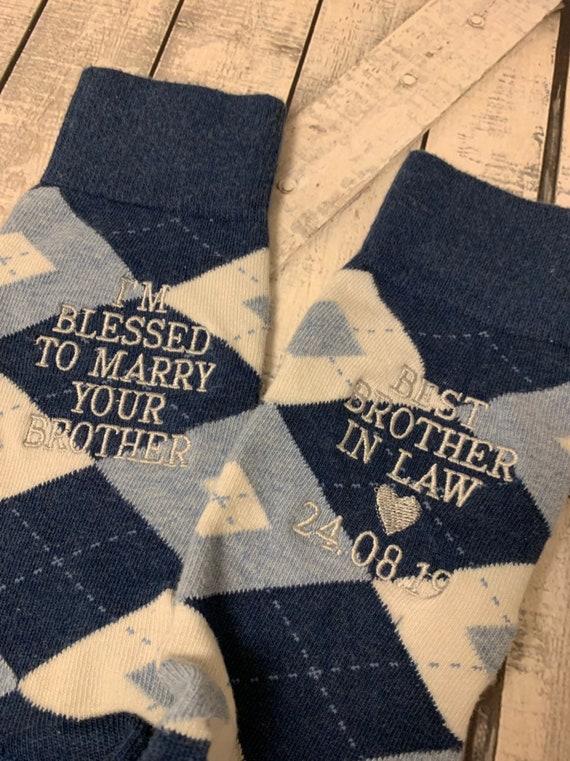 LUXURY BLACK COTTON WEDDING SOCKS Titled Groom,Best Man,Usher etc 15 Titles