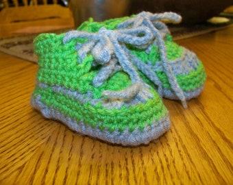 Crochet Baby Tennis Shoes