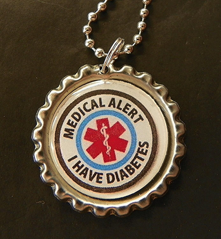 Medic Alert Necklace: Diabetes Necklace Medical Alert Necklace Diabetes