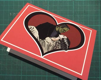 Frankenstein's Bride Card Hand Drawn Blank Greeting Card