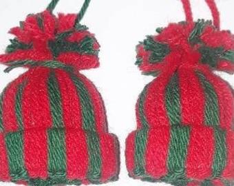 Pom Pom Hat Ornaments