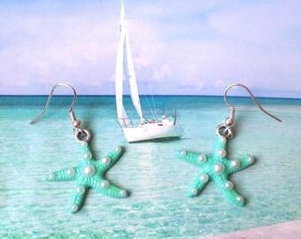 Pearl Starfish Earrings