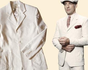 8da7cb0128b 30s 40s JACKET ecru cotton linen blend swing lindy hop 1940 1930