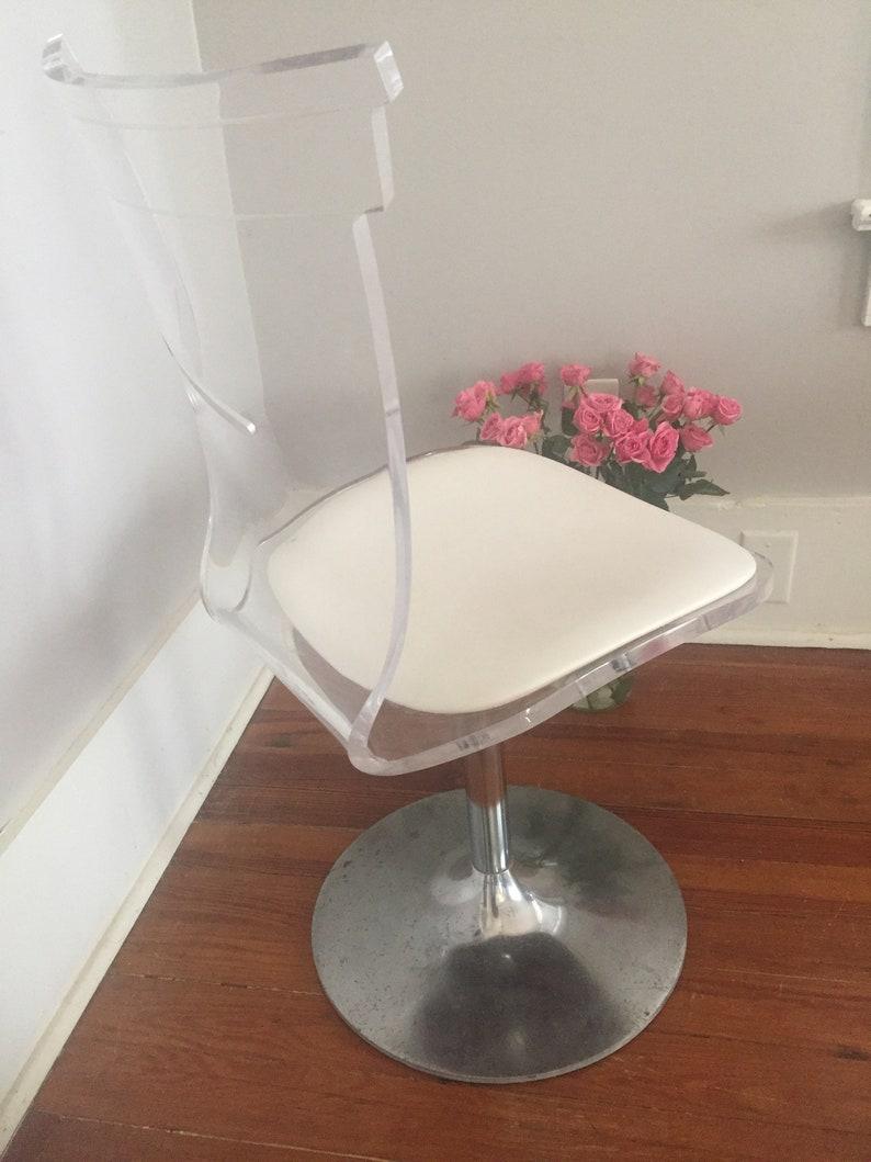 Terrific Vintage Acrylic Swivel Chair Desk Chair Ghost Chair Evergreenethics Interior Chair Design Evergreenethicsorg