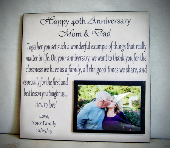 Anniversary Gift For Parents Mom Dad Anniversary Etsy