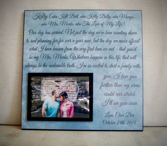 Gift For Wife On Wedding Day Personalized Wedding Vow Picture Etsy